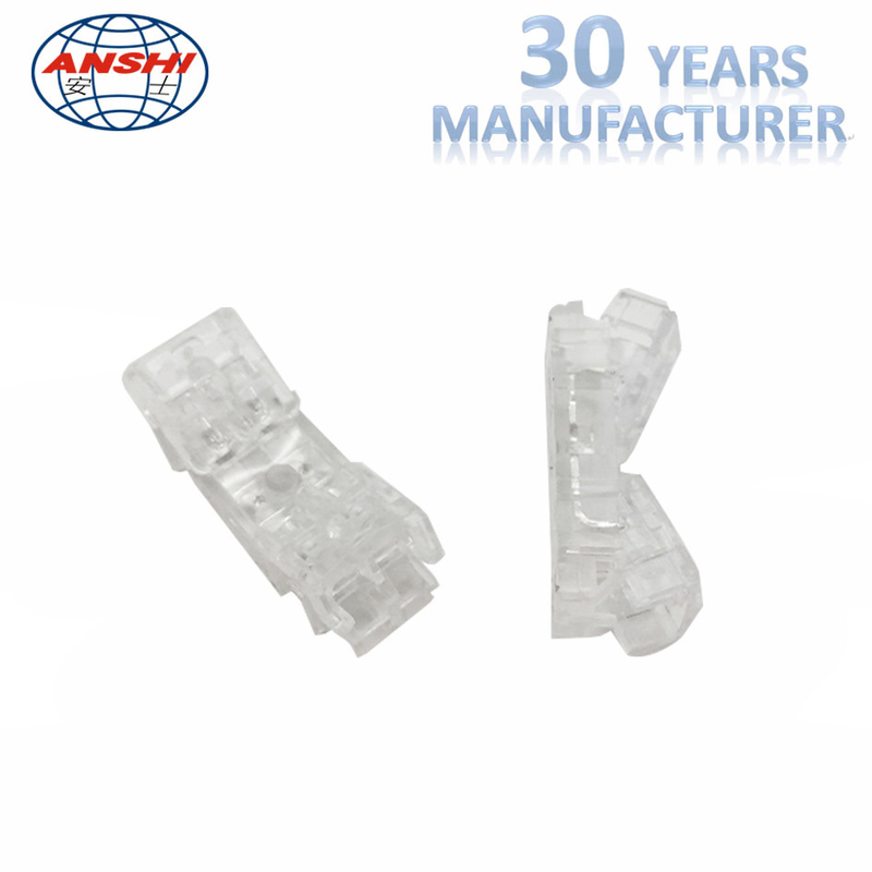 Four Pair Inline IDC Terminal Block Transparent Lock Joint High Impact Material